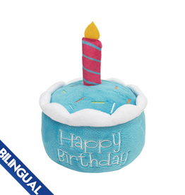 Foufou FouFou Plush Birthday Cake Dog Toy - Blue