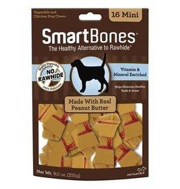 Smart Bones Smart Bones Peanut Butter - Mini 16 Pack