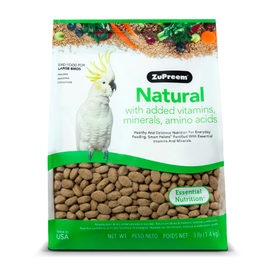 Zupreem Zupreem Natural Large Parrot Maintain 3lbs