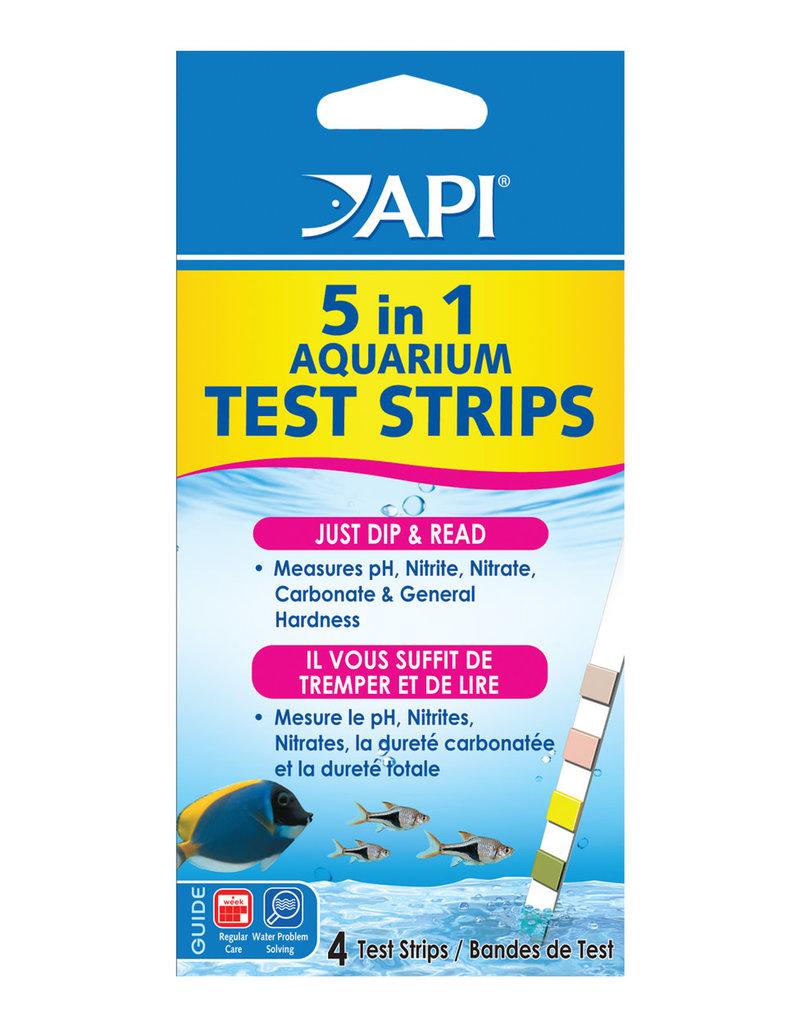 API API 5 in 1 Aquarium Test Strips - 4 pk