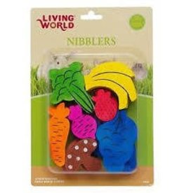 Living World Nibblers Wood Chews - Fruit/Veggie Mix