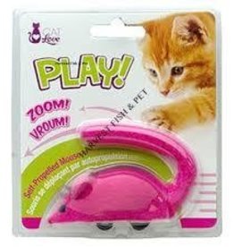 cat love play zippy mouse - pink