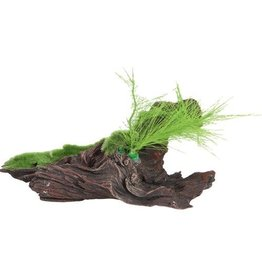 Fluval Fluval Black Driftwood Replica with moss
