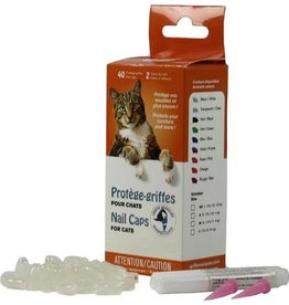 Masked Claws Masked Claws Nail Caps Clear - Cat Small