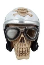 """Aqua-Fit Aqua-Fit Polyresin Pilot Skull 5.5""""x5.5""""x5"""""""