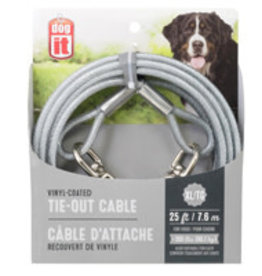 Dogit Dogit Tie-Out Cable - Clear - X-Large - 7.6 m (25 ft)