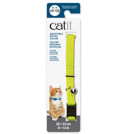 Catit Catit Adjustable Breakaway Nylon Collar - Reflective Yellow