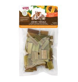 Living World Small Animal Chews - Papaya Stalk Cubes - 20 g