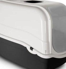 Bergamo Cat Litter Pan Romeo with Top and Filter Dark Grey
