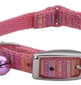Lil Pals Li'l Pals Ribbon Safety Kitten Collar - Pink Stripe 5/16x6-8in