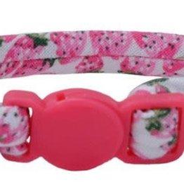 Lil Pals Li'l Pals Round Kitten Collar - Strawberries 5/16x8in