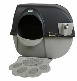 Omega Paw Self Cleaning Litter Box Black Beige - Large