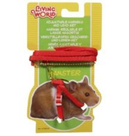 Living World Hamster Harness & Lead Set Red
