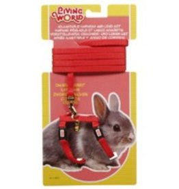 Living World Dwarf Rabbit Harness & Lead set Red