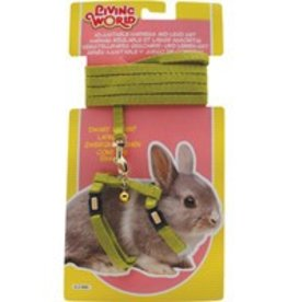 Living World Dwarf Rabbit Harness & Lead set Green