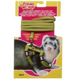 Living World Ferret Harness & Lead Set Green
