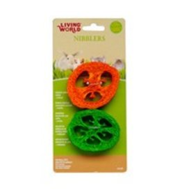 Living World Nibblers Wood Loofah Chews Slices