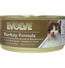 Evolve Evolve Turkey Formula Cat Food 5.5oz
