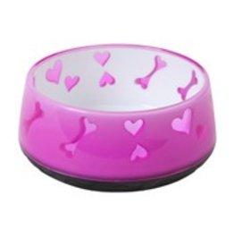 Dogit Dogit Dog Plastic Pink Small Bowl 300ml