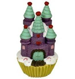 Purple Cupcake Castle Aquarium Ornament