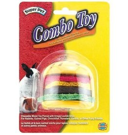 Superpet Combo Toy Crispy/Wood Hamburger