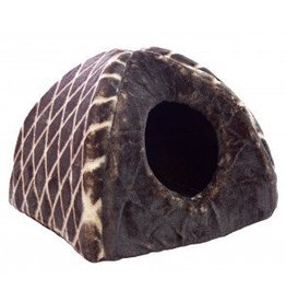 Cumfy Cat Hole House Brown 15x15x14 inches
