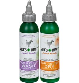 Vets Best Vet's Best Ear Relief Wash and Dry