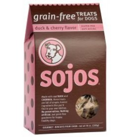 sojos SOJOS Grain Free Dog Treat Duck and Cherry 10oz