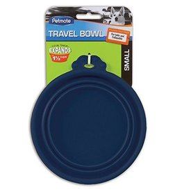 Petmate Silicone Travel Bowl Blue 1.5cup