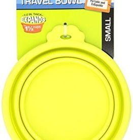 Petmate Silicone Travel Bowl Green 1.5cup
