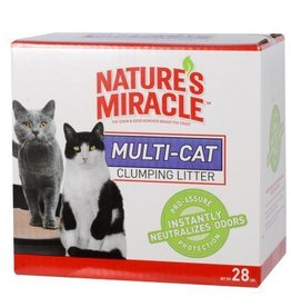Nature's Miracle Multi Cat Clumping Clay Litter 28lbs