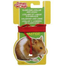 Living World Hamster Adjustable Collar and Lead Set - Red