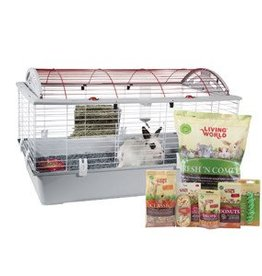 "Living World Deluxe Rabbit Starter Kit - Large - 96 cm L X 57 cm W X 56 cm H (37.8"" X 22.4"" X 22"") 61799"