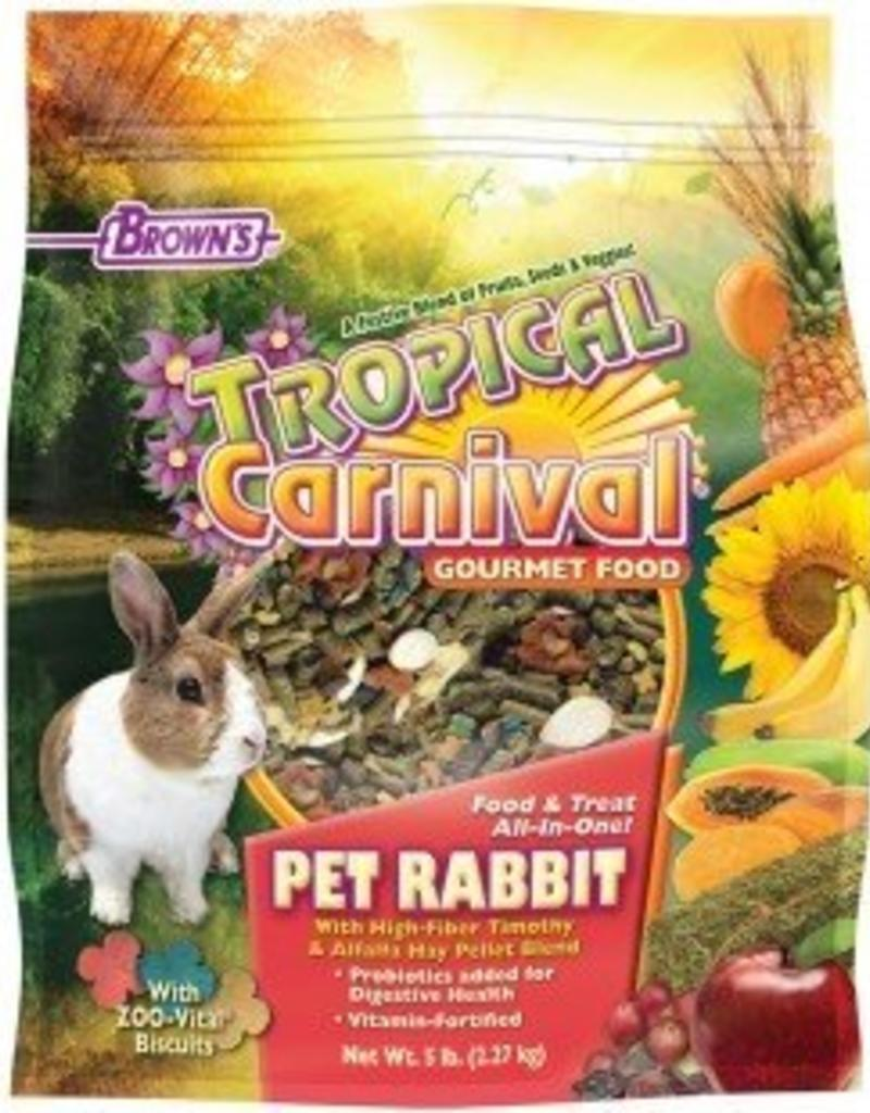 Tropical Carnival Gourmet Rabbit Food 5lb