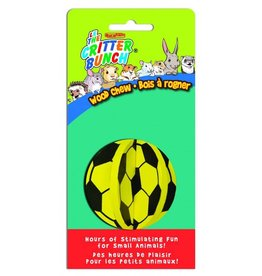 The Critter Bunch Soccer Ball Wood Chew