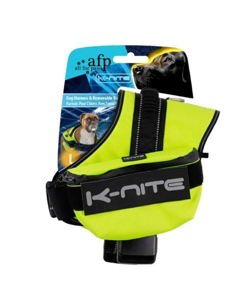 All Four Paws All for Paws K-Nite Dog Harness and Removable Bag Medium