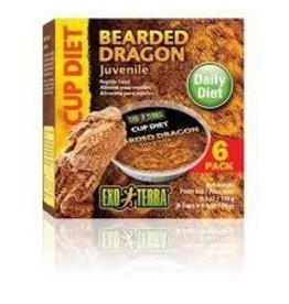 Exo Terra Exo Terra Bearded Dragon Cup Diet Food 6pk
