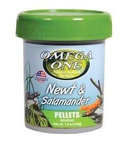Omega One Newt & Salamander Pellets 1.2oz