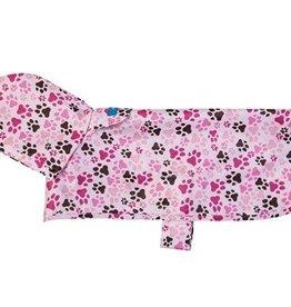 RC Pets RC Pets rain poncho pink paw print XXL