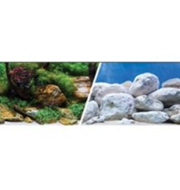 Marina Marina Double Sided Aquarium Background - Aqua Garden/Bright Stone - per Foot