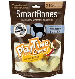Smart Bones SmartBones PlayTime Chews, Peanut Butter, Medium, 5 pack