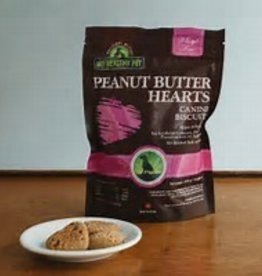 My Healthy Pet Holistic Blend Dog Treats Peanut Butter Banana Hearts 235g