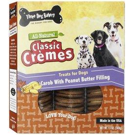 Three Dog Bakery Classic Cremes Carob & Peanutbutter 130z