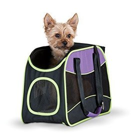 K&H Classy Go Pet Carrier Medium Purple/Black/Lime