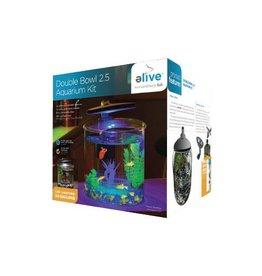 Elive Double Bowl Glass Aquarium Kit 2.5g