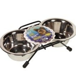 Dogit Dogit Stainless Steel Double Dog Diner, Mini - 2x250ml