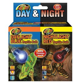 Zoo Med Zoo Med Day Night Reptile Bulb Combo Pack 60W