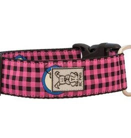 RC Pets RC Pets Wide Clip Collar M Pink Buffalo Plaid