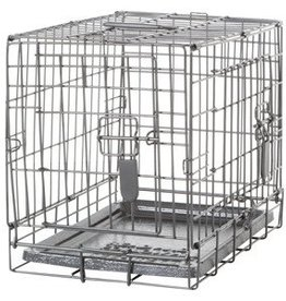 Dogit Dogit Two Door Wire Home Crates with divider - XSmall - 46.5 x 31 x 37 cm (18.2 x 12 x 14.5 in)