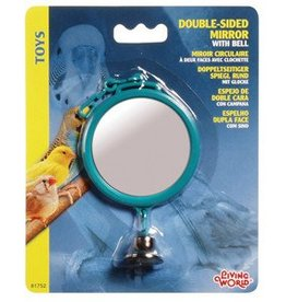 """Living World Double-sided Mirror with Bell - Large - 7 cm (2.8"""")"""